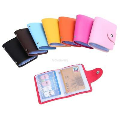Unisex PU Leather 24 Cards Slots Purse Wallet Pocket ID Credit Card New