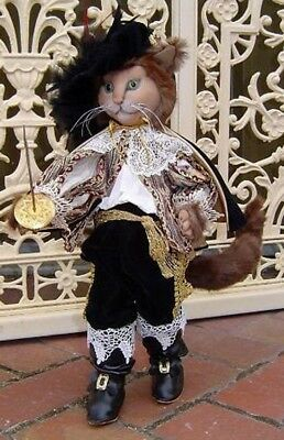 """*new* Cloth Art Doll (Paper) Pattern """"puss In Boots"""" By Suzette Rugolo"""