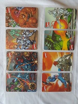 serie marve heroes and villains-completa-schede telefoniche nuove golden 965/973