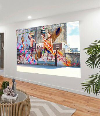Painting Graffiti Street Art Banksy surfing life better Print Canvas Australia
