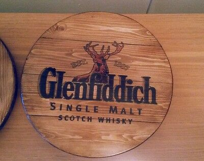 Glenfiddich  plaque wooden sign  mancave shed bar pub christmas