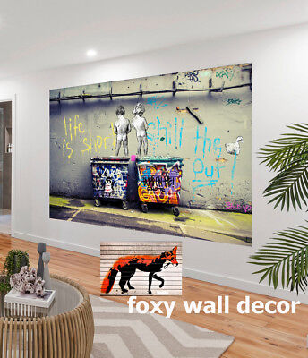 Painting Graffiti Street Art not Banksy Life Short Chill Duck Canvas Australia