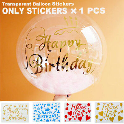 DIY Gold Stickers For Transparent Bubble Balloons Birthday Party Balloon Decor