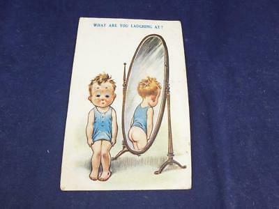 Vintage Novelty Postcard Moving Eyes What are you Laughing at.