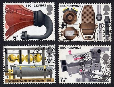 Great Britain: Broadcasting Anniversaries; complete fine used set