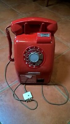 Vintage/ Retro phone collection, Red Pay Phone plus 3 other analogue phones