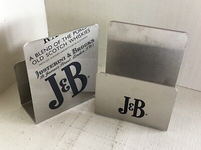 1970S J&B WHISKY - collection-  a pair of menu & cards holder