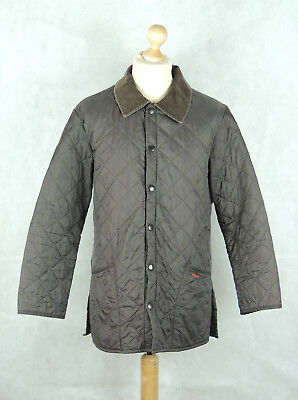 MEN'S BARBOUR LIDDESDALE JACKET - Lightweight Quilted Coat - Small Size - BROWN
