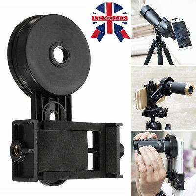 Mobile Smart Phone Telescope Adapter Holder Mount Bracket Spotting Scope Black