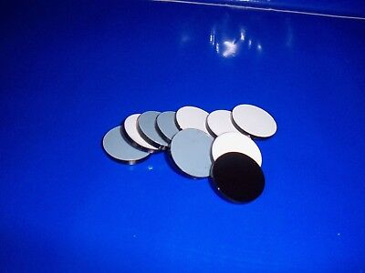 10 pack 25mm black acrylic discs 3mm thick laser cut