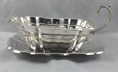 Windsor by Reed & Barton x958G Sterling 2pc Gravy Boat & Under Plate