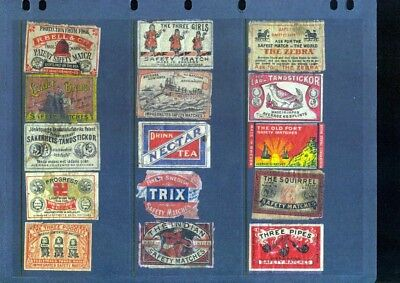 125 Matchbox Labels various countries very old many themes