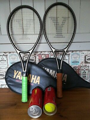 2 Used Tennis Racquets, Balls And Cover