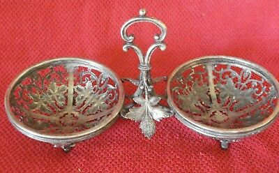 Imperial Russian Warshaw Fraget Silver Plate  Glass Holder Basket