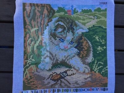 Tapestry - Printed Canvas - Kitten - Made in Italy for Coats Patons