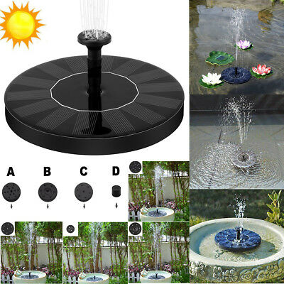 Solar Powered Floating Bird Bath Water Panel Fountain Pump Garden Pond Pool