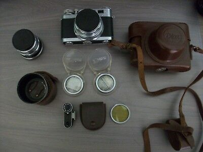 Diax 1a vintage camera with accessories