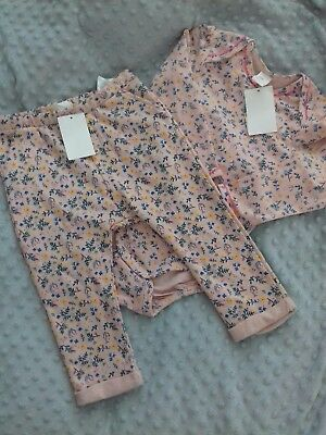 H&M Baby girl joggers and bodysuit age 1.5-2 yrs -Brand New !