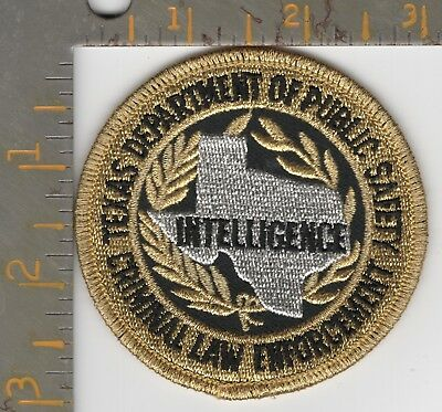 Texas DPS Highway Patrol Intelligence Div State Police Patch Dept Public Safety