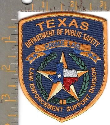 Texas DPS Highway Patrol Dept Public Safety Crime Lab LE Support Div Patch