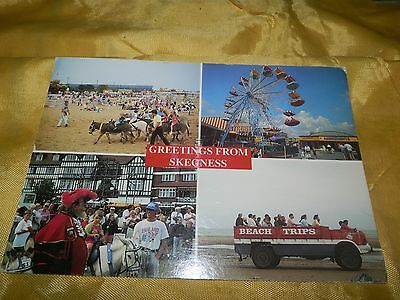 Neat Postcard-Skegness, Great Britan-Scenes from the Town-1995 Postmarked