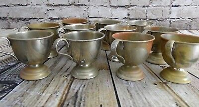 Lot of 11 vintage E.P. Nickel Silver small Silverplate Punch Cups made in Japan