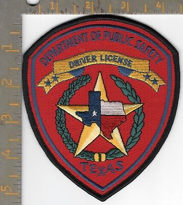 Texas DPS Highway Patrol Dept Public Safety Driver License State Police Patch TX