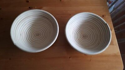 2 Round Cane Bread Dough Proving Basket Banneton