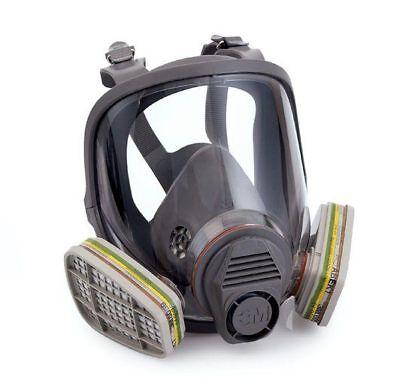 3M 6800 Medium Full Face Mask Respirator Dust 2K Car Paint Spray Re Use Usable