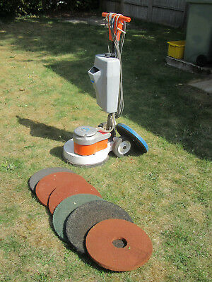 Applied floor polisher buffer in good working order with spare pads.