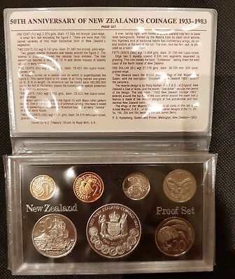 New Zealand 1983 Proof Coin Set
