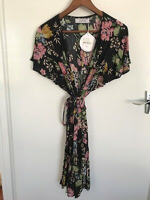 Auguste the Label Delilah Frill Wrap Mini Dress - Size 10 NWT