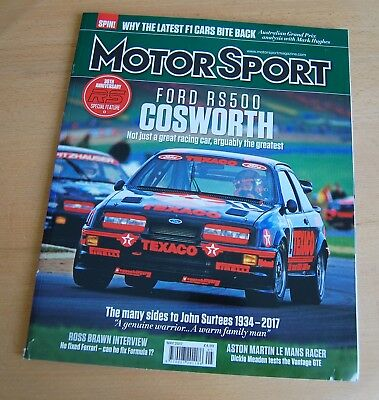 Motor Sport May 2017: Ford Sierra RS500 Cosworth John Surtees Ross Brawn
