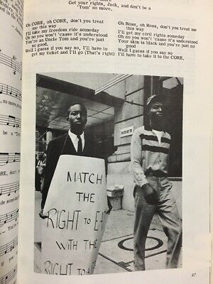 1963 Student Non Violent Coordinating Committee Southern Freedom Song Protest Bk