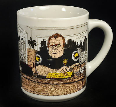 """Vintage Line Up Police Products Coffee Mug Cup """"Law Enforcement"""" Sergeant"""