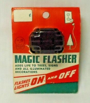 Vintage Original NOS WINKER MAGIC FLASHER Bakelite Blinks Lights Plug Socket