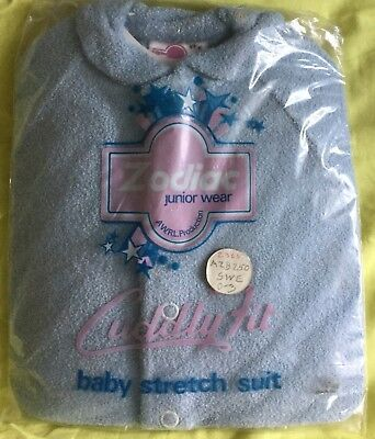 Vintage 1960's / 1970's Baby Grow Original Packaging Unopened 0 - 3 Months Blue