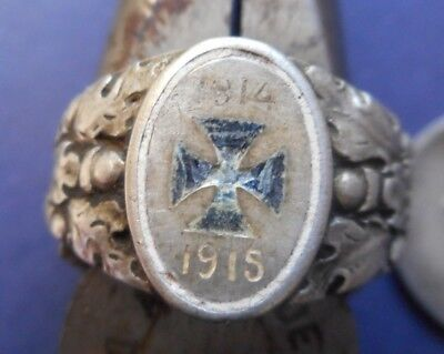World War I German Patriotic Iron Cross Ring- ** Awesome Vintage Piece **