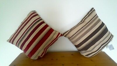 Red Taupe Of Brown Taupe Stripe Complete Cushions Or Cushion Covers