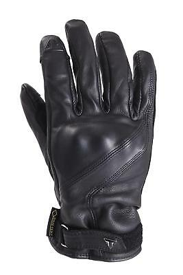 Triumph Lothian Leather Gore Tex Gloves Black Goregrip