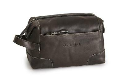 Triumph Raven Leather Wash bag New for AW 2018