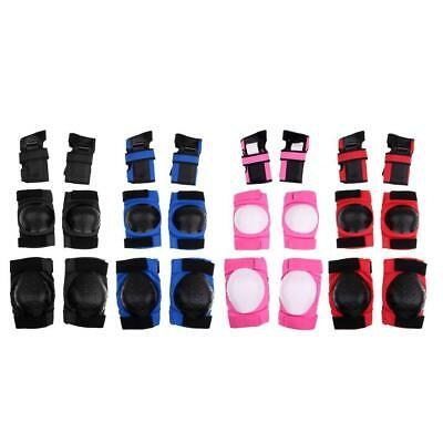 6 Pieces Elbow Knee Wrist Protective Guard Safety Pads Skate Adult and Teen