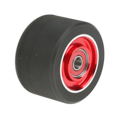 90a PU Roller Skate Wheel with Bearing Men Women Outdoor Skating Red Black