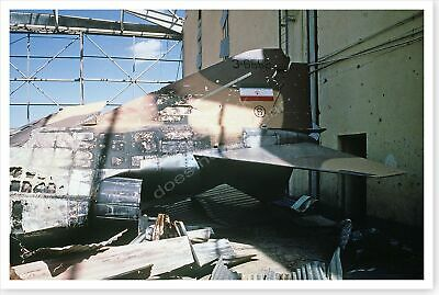 Destroyed Iranian F-4 Phantom 2 Fighter Desert Storm 8 x 12 Silver Halide Photo