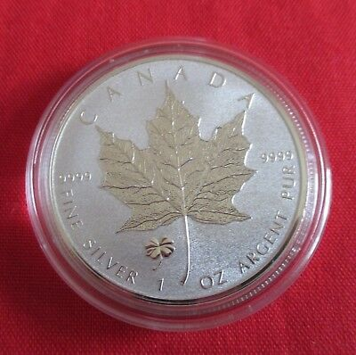 1 oz Maple Leaf 2016 mit Privy: Kleeblatt