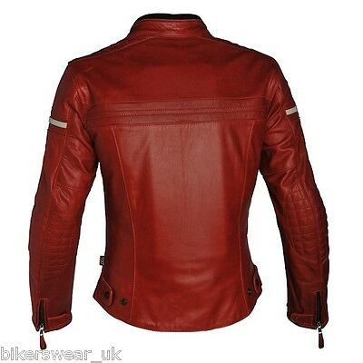 RICHA Daytona classic Ladies Leather Jacket 5 Pcs CE Armour Approved