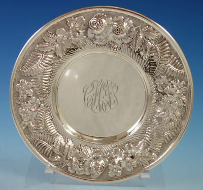 "Repousse by Hennegan & Bates Sterling Silver Dessert Plate 6"" Diameter (#2778)"