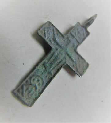 Lovely Late Medieval Christian Crucifix Cross Amulet Wearable