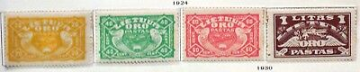 Lithuania 1924 sc C32-35 MLH