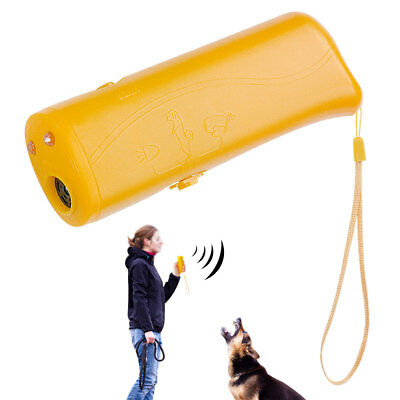 Anti Barking Ultrasonic LED Lighting Dog Training Banish Cat Dog Maching Trainer